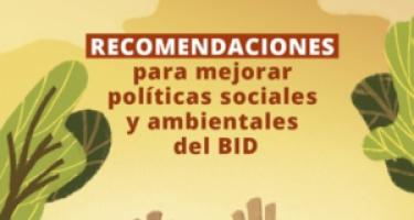 Sociedad Civil presenta Recomendaciones al BID para el nuevo Marco de Política Ambiental y Social